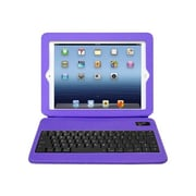 Aluratek ABTK02FV Rubberized Texture Slim Folio Case with Bluetooth Keyboard for Apple iPad 1/2/3 and 4th Generation,Grape Jelly