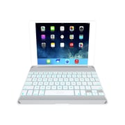 Zagg ZKFHCWHLIT105 Profolio Keyboard/Cover Case for Apple iPad Air, White/Silver