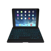 Zagg ZKFHFBKLIT105 Leather Folio Keyboard Case for Apple iPad Air, Black