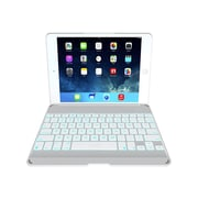 Zagg ZKFHFWHLIT105 Leather Folio Keyboard Case for Apple iPad Air, White