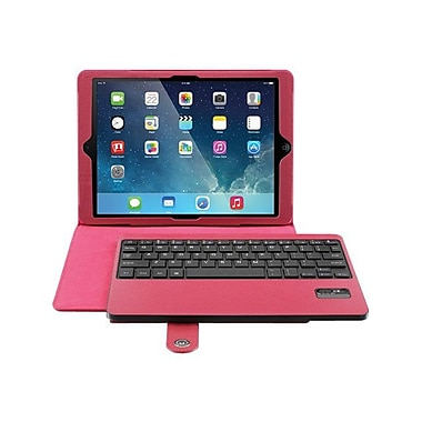 Aluratek Bluetooth Keyboard Folio Case For iPad Air, Red