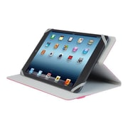 "V7 TUC20-8-RED-14N Polyurethane Slim Universal Folio Case for 8"" Apple iPad Mini and Tablet PCs, Red"
