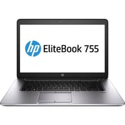 "HP EliteBook 755 G2 15.6"" LED Backlit LCD AMD A10 180 GB HDD, 8 GB, Windows 7 Professional 64-bit Laptop, Black"