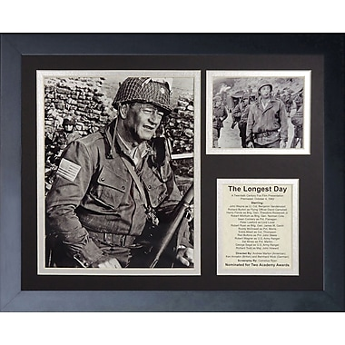 Legends Never Die John Wayne - Longest Day Framed Memorabili
