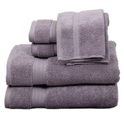 Pure Fiber Zero Twist 6 Piece Towel Set; Purple