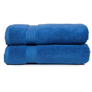 Pure Fiber Zero Twist Bath Towel (Set of 2); Blue