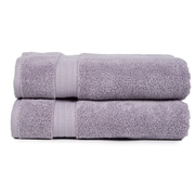 Pure Fiber Zero Twist Bath Towel (Set of 2); Purple