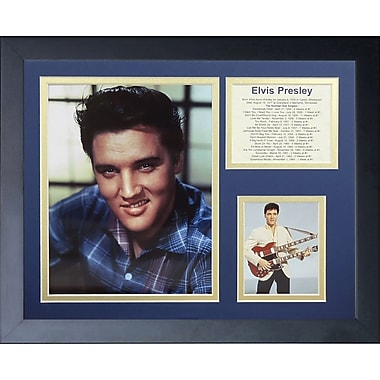 Legends Never Die Elvis Presley Color Portrait II Framed Memorabili