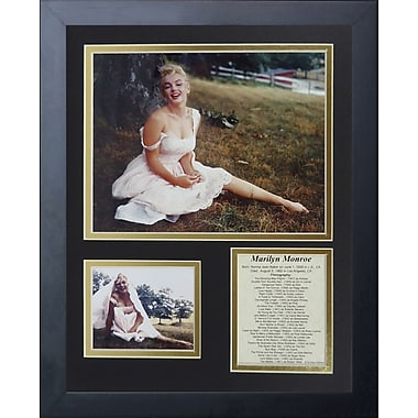 Legends Never Die Marilyn Monroe - White Dress Framed Memorabili