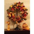 Cypress Autumn Inspirations Fall Bouquet Wreath with Glitter