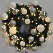 Queens of Christmas Pre-Lit Sequoia Wreath Decorated w/ Ice Ornament; 48''