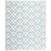 Safavieh Safavieh Dhurries Light Blue & Ivory Area Rug; 9' x 12'