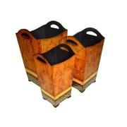 Cheungs 3 Piece Manufactured Wood Pot Planter Set (Set of 3)