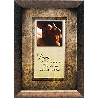 Artistic Reflections Pray Hardest When It's The Hardest To Pray by Brett WestFramed Graphic Art