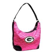 Little Earth NFL Quilted Hobo Bag; Green Bay Packers - Pink