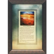 Artistic Reflections Footprints Framed Graphic Art