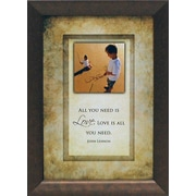 Artistic Reflections All you need is Love. Love is all you need. Framed Graphic Art