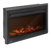"CorLiving™ 18 1/2"" Electric Fireplace Insert, Black"