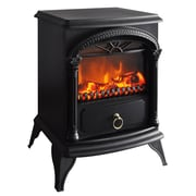 "CorLiving™ 21 3/4"" Free Standing Electric Fireplace With Ornate Handle, Black"