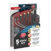 CorLiving™ HDTV 5 Piece HDMI Cable Kit