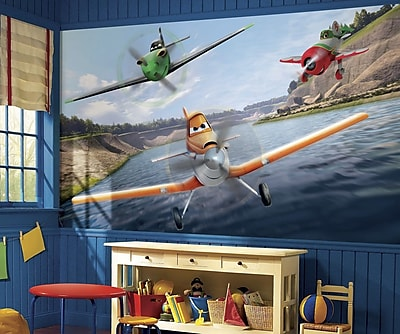 """""RoomMates """"""""Disney Planes"""""""" Chair Rail Prepasted XL Wallpaper Mural"""""" 1236081"