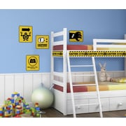 RoomMates Monsters Inc - Caution Signs Peel and Stick Giant Wall Decal