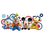 "RoomMates ""Mickey and Friends Mickey Mouse Clubhouse Capers"" Peel and Stick Giant Wall Decal"