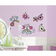 "RoomMates ""Glitter Doodlerific Floral"" Wall Decal"