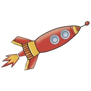 "RoomMates ""Rocket"" Gaint Wall Decal"