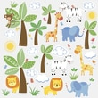 """RoomMates """"Jungle Friends"""" Peel and Stick Wall Decal"""