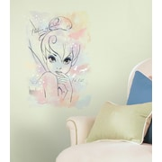 "RoomMates ""I Believe in Fairies"" Tink Watercolor Graphic Peel and Stick Giant Wall Decal"