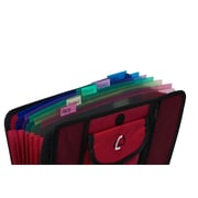 Case It ACC-21 5-TAB Expanding File, Red