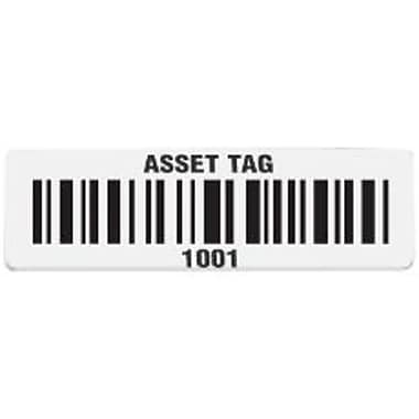 Wasp® Pre-Printed Asset Tags, 2'' x 1