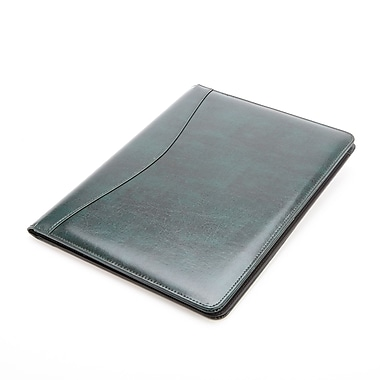 Royce Leather® Executive Writing Padfolio, Green