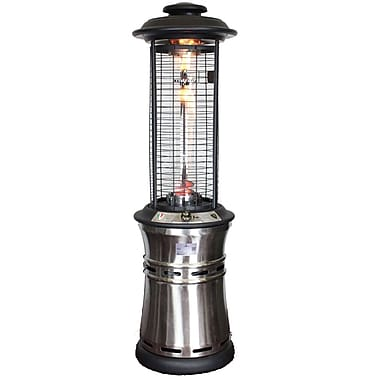 Lava Heat Italia Ember Collapsible Liquid Propane Gas Patio Heater, Stainless Steel Finish