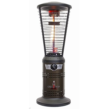 Lava Heat Italia Mini Ember Tabletop Liquid Propane Patio Heater, Heritage Bronze Finish