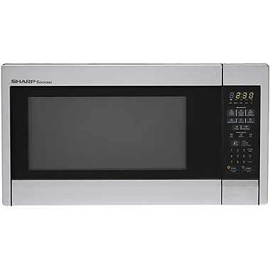 Sharp® Carousel 1.3 Cu. Ft. 1000 W Countertop Microwave Oven, Stainless Steel