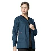 WonderWink® Constance Snap Front Scrub Jacket, Caribbean, LG