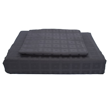 Maholi Bliss Duvet Cover Set, 400 Thread Count, Twin, Black