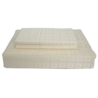 Maholi Bliss Sheet Set, 400 Thread Count, Twin, Ivory