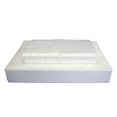 Ambassador Solid Sheet Set, 250 Thread Count, Twin, White