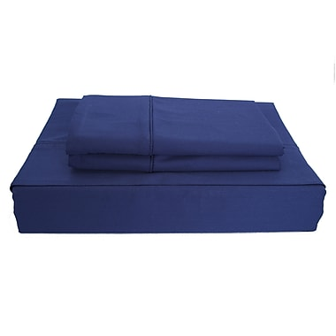 Ambassador Solid Sheet Set, 250 Thread Count, Double, Navy