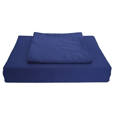 Ambassador Solid Duvet Cover Set, 250 Thread Count, King, Navy