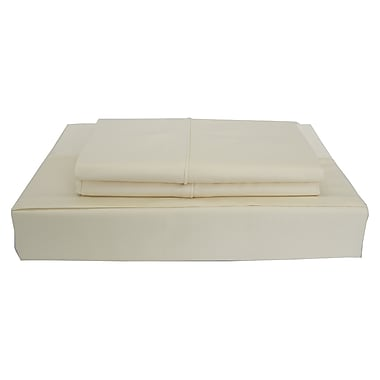 Maholi Bamboo Solid Sheet Set, 310 Thread Count, King, Beige