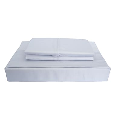 Maholi Bamboo Solid Sheet Set, 310 Thread Count, Twin, Blue