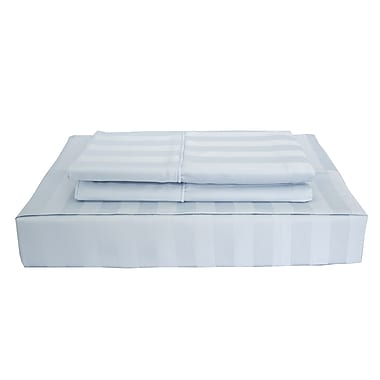 Maholi Bamboo Stripe Sheet Set, 310 Thread Count, Double, Blue