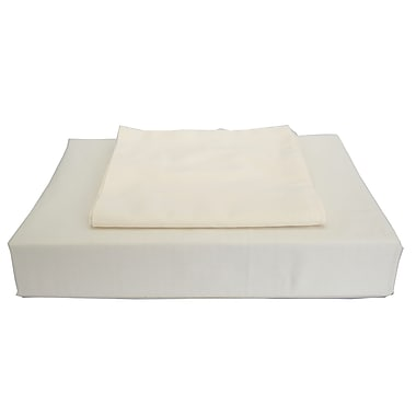 Maholi Sweet Slumber Bed Skirt, 230 Thread Count, Crib, Ivory