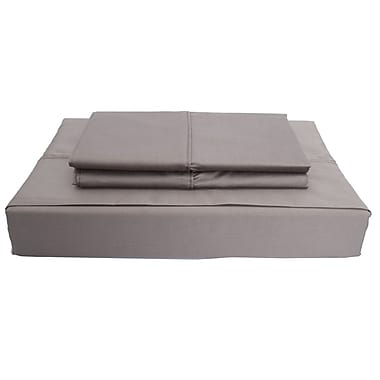 Maholi Duncan Sheet Set, 620 Thread Count, King, Grey