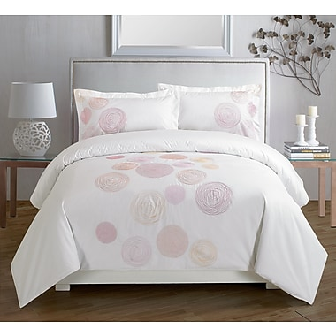 Maholi Spiral Red Duvet Cover Set, Queen
