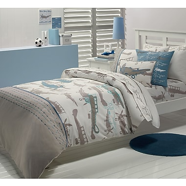 Maholi KIDS Retro Planes Duvet Cover Set, Full/Queen